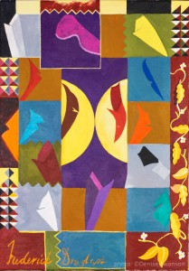 Painting by Lubaina Himid MBE. Photograph Denise Swanson